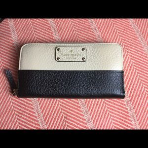 Kate Spade tan and black wallet